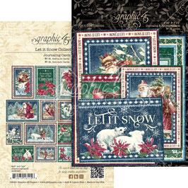 Graphic 45-Journaling & Ephemera Cards-Let It Snow
