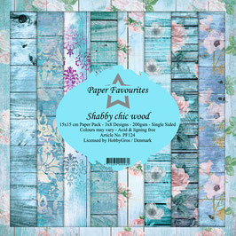 """Paper Favourites-Shabby Chic Wood 6x6"""""""
