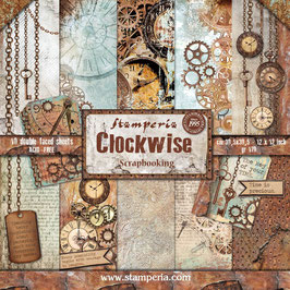 "Stamperia-Paper Pad Clockwise 12x12"""