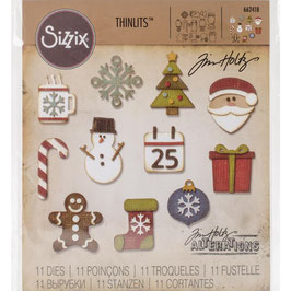 Sizzix Thinlits by Tim Holtz-Stanzform/Mini Christmas Things