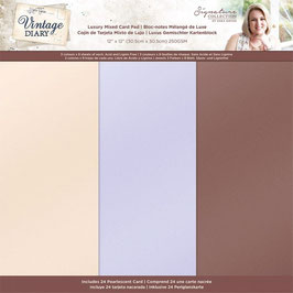 """Crafter's Companion Paper Pad-Vintage Diary Luxury Pearl 12x12"""""""
