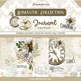 """Stamperia-Paper Pad Romantic Collection-Journal 8x8"""""""