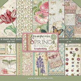 """Stamperia-Paper Pad Spring Botanic 12x12"""""""