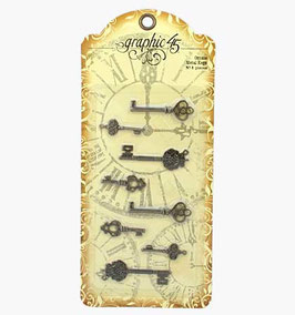 Graphic 45-Ornate Metal Keys