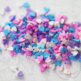 Dress My Crafts/Shaker Elements-Pastel Hearts Slices