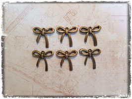 Vintage bronce Charms - Schleife 110