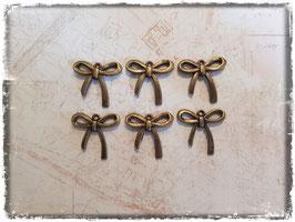 Vintage Metall Charms-Schleife