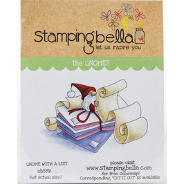 Stamping Bella-Cling Stamp/Gnome with a List