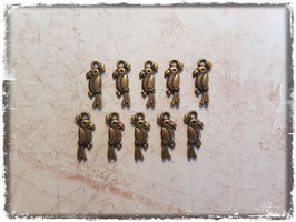 Metall Charms-Papagei Bronce-127