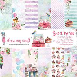 """Dress my Craft-Sweet Treats/Paper Pad 6x6"""""""