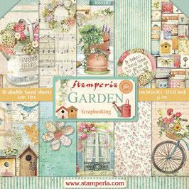 """Stamperia-Paper Pad Garden 12x12"""""""