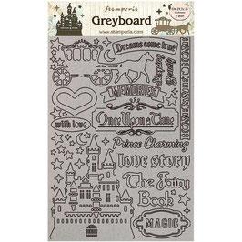 Stamperia Greyboard-Karton Stanzteile/Sleeping Beauty LSPDA431