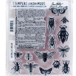 Tim Holtz Stempel Set-Entomology