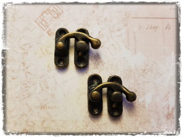 Verschluss mit Hacken - Vintage Bronce - 2 Paare - Klein - 311