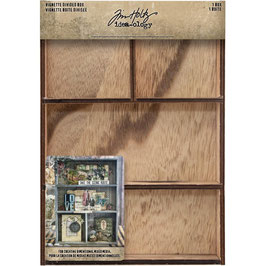 Idea-Ology by Tim Holtz/Vignette Divided Box-4 Fächer