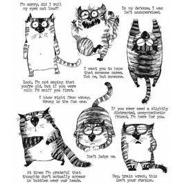 Stampers Anonymous by Tim Holtz-Stempel/Snarky Cat
