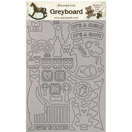 Stamperia Greyboard-Karton Stanzteile/Sleeping Beauty LSPDA433