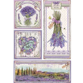Stamperia Reispapier A4-Provence DFSA4364