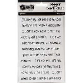 Dylusions by Ranger-Bigger Back Chat Stickers/Set 2 White