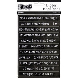 Dylusions by Ranger-Bigger Back Chat Stickers/Black
