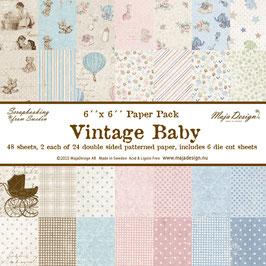"Maja Design-Paper Pad Vintage Baby 6x6"""