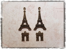Metall Charms-Paris Bronce-112