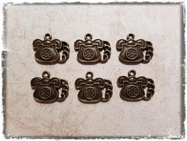 Vintage Metall Charms-bronce/Telefon