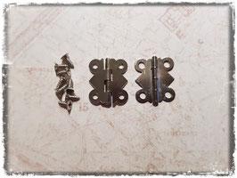 Scharniere - Vintage Silber klein 354