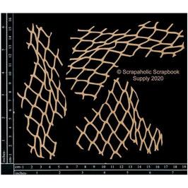 Scrapaholic-Laser Cut Chipboard-Fish Net Pieces