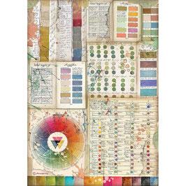 Stamperia Reispapier A4-Atelier Des Arts DFSA4552