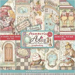 """Stamperia-Paper Pad Alice II 8x8"""""""