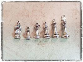 Metall Charms-Schachfiguren Silber 1/219