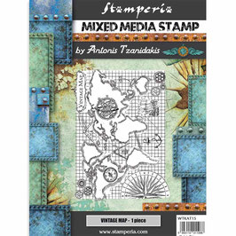 Stamperia-Stempel/Sir Vagabond-Vintage Map