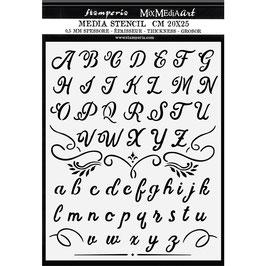 Stamperia-Stencil/Calligraphy KSTD060