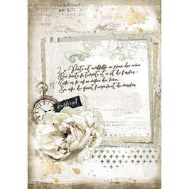 Stamperia Reispapier A4-Romantic Collection-Journal DFSA4557
