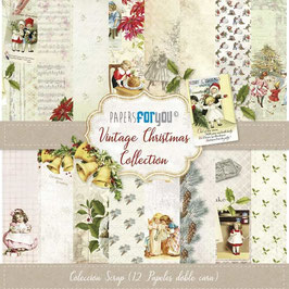 Papers for you-Vintage Christmas 12x12""