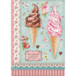 Stamperia Reispapier A4-Sweety DFSA4504