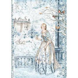 Stamperia Reispapier A4-Winter Tales DFSA4489