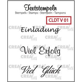"""Crealies-Clear Stamps """"Verschiedene 01"""""""