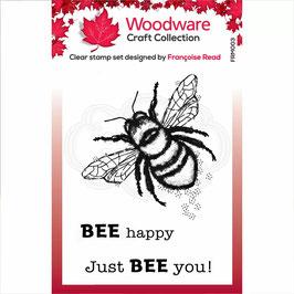 Woodware Stempel-Little bee