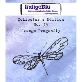 IndigoBlu-Stempel/Collector's Edition Nr. 33/Grunge Dragonfly