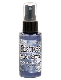 Distress Oxide Spray-chipped sapphire