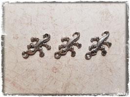 Metall Charms-Gecko Silber-252