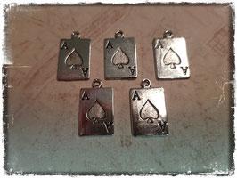 Metall Charms-As Silber 1/213