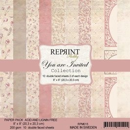 """Reprint-You are Invited Collection 8x8"""""""