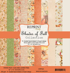 """Reprint-Shades of Fall Collection 12x12"""""""