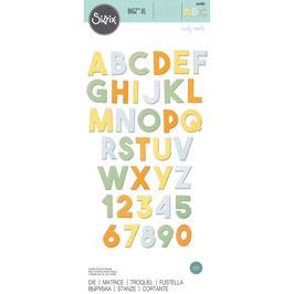 Sizzix by Tim Holtz Bigz XL-Stanzform/Alphabet Chunky