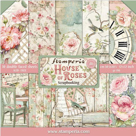 Stamperia-Scrapbooking Papier/House of Roses 12x12""