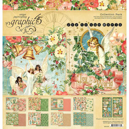 Graphic 45-Paper Pad Joy to the World (1) 12x12""