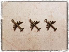 Metall Charms-Flugzeug bronce-185-1
